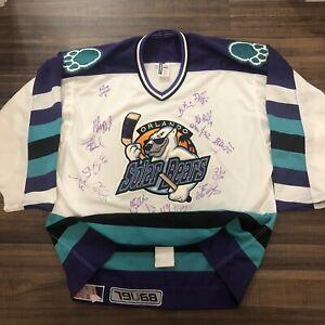 Bauer Authentic Orlando Solar Bears 2000 Team Signed IHL Hockey Jersey 52