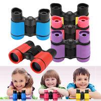 Kid's 4*30 Rubber Adjustable Mini Lightweight Binoculars Telescope With Strap