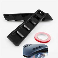 2x Universal Race Car Hood Air Vent Louver Panel Trim Black ABS Carbon Pattern