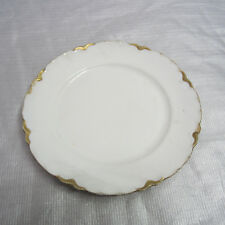 Pope Gosser China Plate - 8 inch - White - Gold Trim