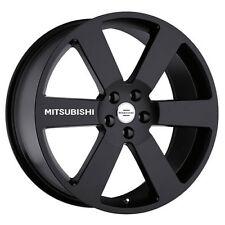 New - 4 Mitsubishi White Wheels Decal Sticker Emblem Lancer Ralliart Evolution