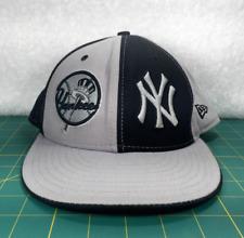New York Yankees New Era 59Fifty Black & Gray Panel Baseball Hat~Size 7 1/4