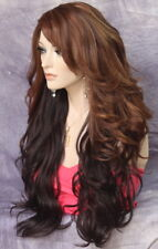 Long Brown Auburn Wig What a Bombshell! Goregeous wavy Heat Safe  WBVA Chestnut