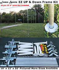 Batting Cage Frame Kit 10' x 12' x 50' EZ UP & DOWN Baseball Softball Frame Kit