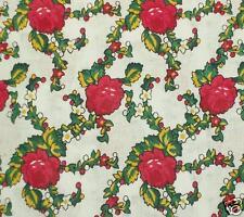 FOLK COSTUME FABRIC 100% cotton white floral printed skirt Poland Romanian retro