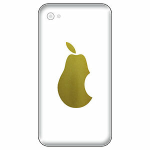 6 Aufkleber 5cm Birne Handy smartphone Tattoo Deko Folie Apple Apfel verarsche