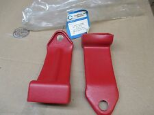 "Mopar ""NOS"" 1965 Seat Belt Cover Pkg All 2-Dr EX/Bucket Seats ""RED"" 2585804"