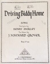 DRIVING BIDDY HOME. -  HENRY SMALLY. -  SHEET MUSIC
