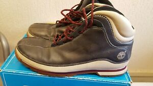 Timberland Men's Grey Leather Boots Size UK 10