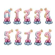 32 '' Giant Rainbow Numbers Foil Balloons Baby Shower Birthday Party Decoration