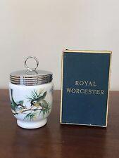 Royal Worcester KING SIZE EGG CODDLER with Lid in BIRDS ~ England