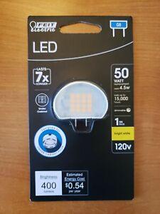 Feit Electric 50W Bright White (Uses 4.5W) Puck G8 Bi-Pin Base LED Bulb NEW!
