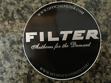 Filter sticker promo for Anthems for the Damned cd