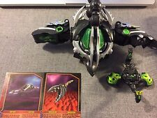 Bakugan - Dharak Colossus - Darkus 4 Piece Set Combiner W/ 2 Battle Gear Cards