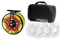 Airflo New Switch Pro Reels Sizes 4/6 and 7/9 + 5 Free Spare Spools & Reel Bag