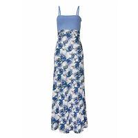 2in1 SOMMERKLEID MAXI ROCK Gr.36/38 S/M STRANDKLEID DRESS KLEID BANDEAU blau