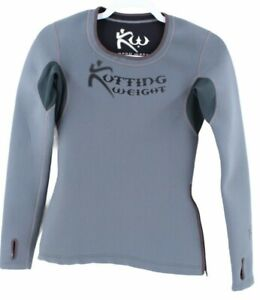 Kutting Weight Womens Gray Long Sleeve Scoop Neck Sauna Suit Shirt Size XS