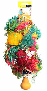 Avi One Destructable Toy Loofa With Raffia Wooden Beads And Gourd Parrot Macaw