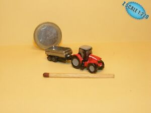 Massey Ferguson Tractor Z scale 1/220 Hand-painted Metal Model