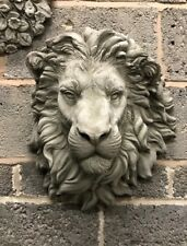 Lion Head stone garden wall ornament majestic king of the jungle plaque large