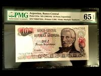 Argentina 10 Pesos 1983 Banknote World Paper Money UNC Currency - PMG Certified