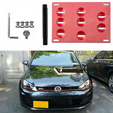 Front Bumper License Plate Tow Hook Mouting Bracket for Volkswagen Jetta 13-18