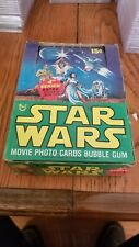 1977 Topps STAR WARS Series #4 EMPTY WAX Display BOX + 5 Wrappers