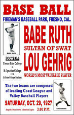 BABE RUTH LOU GEHRIG POSTER 8X10 PHOTO YANKEES NY BASEBALL BARNSTORMING PICTURE