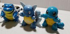 "Pokemon TOMY 2"" figures squirtle,wartortle & blastoise  CGTSJ , RARE! FREESHIP!"