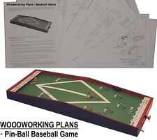 WOODWORKING PLANS - Pin-ball BASEBALL GAME D.I.Y. plans (English).