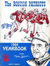 Phil Bissell Autographed 1964 Boston Patriots Yearbook AFL