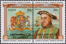 ST. VINCENT GRENADINES -1983- British Monarchs - Henry VIII - Se-Tenant - #279