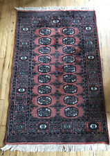3 X 5 Vintage Hand-Knotted Oriental Area Rug Pink Handmade
