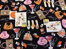 Michael Miller - Pretty Woman - D#CX4479 - 100% Cotton - Per 1/2m - Shoes + Bags