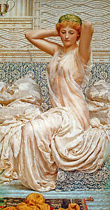Silver Sexy Nude Bedtime Canvas Giclee Poster Print Seethrough Nightie Picture