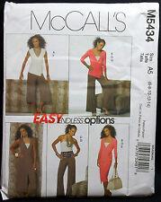 McCalls Pattern #M5434 Misses Tops Dress Skirt Pants 2 Lengths (6-8-10-12-14)