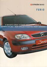 CITROEN Saxo 1.4 i FURIO LIMITED EDITION 2001 nel Regno Unito delle vendite sul mercato opuscolo