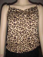 H & M *Leopard* Spaghetti strap Cotton top (XS)