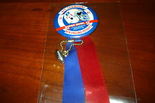 Patriots 1985 AFC Champions Super Bowl XX Pin w/Ribbon AWESOME!