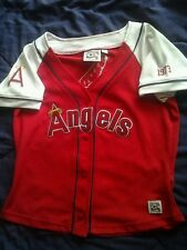 California Angels NWT Womens Size XL/EX Throwback Cooperstown Collection Jersey