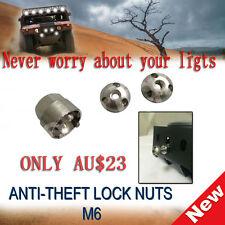 1 SET OF M6 1 Anti Theft Security Lock Nut screw For Led Light Bar IPFSpot flood