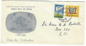 1960 FDC Dag der Vrijheden Issue