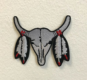 Buffalo Gothic Art Badge Clothes Iron on Sew on Embroidered Patch
