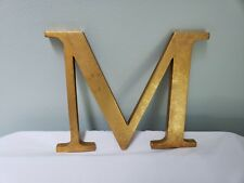 Wall Hanging - Initial M - Gold