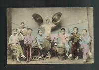 Mint China Real picture Postcard Cantonese Band Musicians