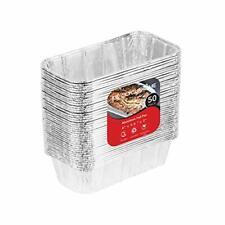 Aluminum Pans Mini Loaf Pans (50 Pack) 1 Lb Aluminum Foil Tin Pans, Small Loaf P