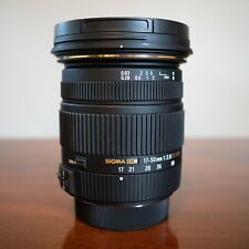 Sigma EX DC HSM 17-50mm f/2.8 zoom lens for Pentax w/ hood, pouch, box, papers