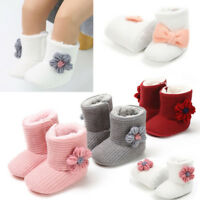 Infant Baby Girl Boys Boots Windproof Warm Plush Soft Snow Soft Crib Shoes P