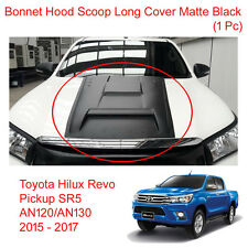 White Pearl Bonnet Hood Scoop Cover Trim for Toyota Hilux Revo 4WD 2WD 15 - 17