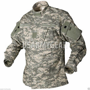 US Army Military Acu Digital Camo Combat Uniform Shirt Top Jacket S M L XL USGI